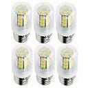 お買い得  LED電球-SENCART 6本 5W 800-1200lm E14 / G9 / B22 LEDコーン型電球 T 42 LEDビーズ SMD 5730 装飾用 温白色 / クールホワイト 220-240V / 12V