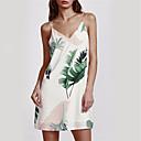 cheap Wedding Wraps-Women's Loose Dress - Floral White, Backless Strap
