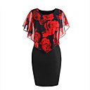 cheap Party Headpieces-Women's Club Skinny Bodycon Dress - Floral Layered