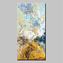 baratos Pinturas Abstratas-Pintura a Óleo Pintados à mão - Abstrato / Arte Pop Modern Incluir moldura interna / Lona esticada