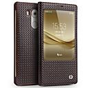 זול מגנים לטלפון & מגני מסך-מגן עבור Huawei Mate 9 Mate 8 עמיד בזעזועים עם חלון נפתח-נסגר כיסוי מלא צבע אחיד קשיח עור אמיתי ל Huawei Mate 8
