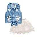זול סטים של ביגוד לבנות-בנות פעיל כותנה מכנסיים - דפוס כחול בהיר / חמוד / פעוטות
