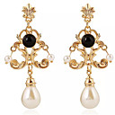 cheap Contemporary Duvet Covers-Women's Synthetic Tanzanite Drop Earrings - Imitation Pearl, Resin Drop Asian, Classic White / Black For Evening Party / Going out