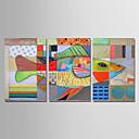hesapli POP Art-Hang-Boyalı Yağlıboya Resim El-Boyalı - Soyut Modern Tuval