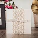 tanie Naklejki, metki i znaczki-Wrap & kieszonkowy Zaproszenia ślubne 20 - Zaproszenia Klasyczny styl Wytłaczany papier Wytłaczany wzór