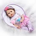 preiswerte Lebensechte Puppe-NPKCOLLECTION NPK-PUPPE Lebensechte Puppe Baby 22 Zoll Silikon - Neugeborenes lebensecht Niedlich Kindersicherung Neues Design Non Toxic Kinder Unisex / Mädchen Spielzeuge Geschenk