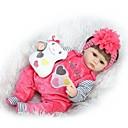 preiswerte Puppen-NPKCOLLECTION Lebensechte Puppe Baby 16 Zoll Silikon - Neugeborenes lebensecht Niedlich Kindersicherung Non Toxic Handaufgetragene Wimpern Kinder Unisex / Mädchen Spielzeuge Geschenk