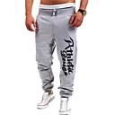 povoljno Muške duge i kratke hlače-Muškarci Aktivan Pamuk Ravan kroj Aktivan Sportske hlače Chinos Hlače Slovo