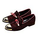 זול נעלי ספורט לגברים-בגדי ריקוד גברים נעליים פורמליות עור נובוק אביב / סתיו נוחות נעליים ללא שרוכים שחור אדום