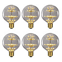 abordables Tiras de Luces LED-Brelong 6 pcs 2.5w e27 47led bombillas globo decorativas ac220 blanco cálido