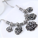 cheap Jewelry Sets-Women's Statement Necklace - Flower Vintage, European, Fashion Silver Necklace Jewelry For Party