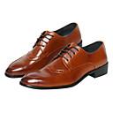 זול נעלי אוקספורד לגברים-בגדי ריקוד גברים לבש נעליים PU אביב / סתיו נוחות נעלי אוקספורד שחור / חום