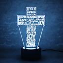 hesapli Yenilikçi Aydınlatma-1set 3D Gece Görüşü Değişim USB Dokunmatik Sensör USB Bağlantı Noktalı Renk Değiştiren
