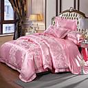 tanie Floral Duvet Okładki-Zestawy kołdra okładka Luksusowy Jedwab / bawełna Żakard 4 elementyBedding Sets / > 800