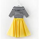 זול שמלות לבנות-שמלה פסים פשוט בנות ילדים