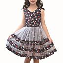 זול שמלות לבנות-בנות פעיל מכנסיים - פרחוני / טלאים טלאים ורוד מסמיק