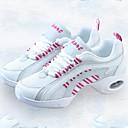 זול נעלי ספורט לגברים-בגדי ריקוד נשים סניקרס לריקוד קנבס / טול נעלי ספורט שחבור עקב נמוך מותאם אישית נעלי ריקוד ורוד ולבן
