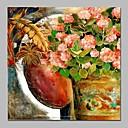 tanie Pejzaże-Hang-Malowane obraz olejny Ręcznie malowane - Martwa natura Zabytkowe Brezentowy / Rozciągnięte płótno