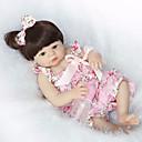 זול בובות-NPK DOLL בובה מחדש תינוק 22 אִינְטשׁ גוף מלא סיליקון / סיליקון / ויניל - ריסים ידניים, ציפורניים אטומות וחותמות, ראש דיסקט הילד של יוניסקס מתנות / עור טבעי