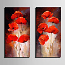 cheap Landscape Paintings-Print Stretched Canvas - Floral / Botanical Modern