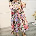 זול שמלות לבנות-שמלה שרוול ארוך פרחוני פעיל בנות פעוטות / כותנה / חמוד