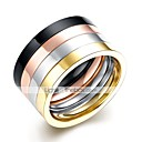 cheap Rings-Men's Ring Set - Stainless Steel Rock 9 / 10 Rainbow For Daily / Work