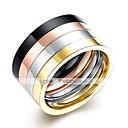 olcso Férfi gyűrűk-4db Rich Long Menő Szivárvány / Férfi / Gyűrű készlet / Rozsdamentes acél