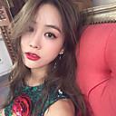 olcso Divat fülbevalók-Hosszú Klipszes fülbevalók - Gyöngy Twist Kör Egyszerű, Koreai, Divat Ezüst Kompatibilitás Napi