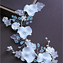 tanie Imprezowe nakrycia głowy-Włókno syntetyczne Stroik z Kryształki / Sztuczna perła / Satynowy kwiatek 1 szt. Ślub / Urodziny Winieta