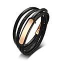 cheap Men's Bracelets-Men's Wrap Bracelet Leather Bracelet - Leather Fashion Bracelet Black For Daily Going out
