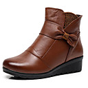 cheap Brooches-Women's Shoes Cowhide Fall / Winter Comfort / Bootie Boots Wedge Heel Booties / Ankle Boots Black / Brown