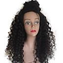 tanie Pielęgnacja włosów-Włosy naturalne Nieprzetworzone włosy naturalne Pełna siateczka Peruka Włosy brazylijskie Curly Peruka Przedziałek na środku Głębokie rozstanie Część boczna 130% Gęstość włosów z Baby Hair Naturalna