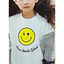 tanie Obuwie chłopięce-Dzieci Dla dziewczynek Kolorowy blok / Inne Krótki rękaw Inne T-shirt Niebieski