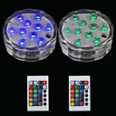 abordables Lámparas de Noche-Brelong 2 pcs 10led rgb luces decorativas de buceo