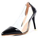olcso Női magassarkú cipők-Női Cipő PU Nyár Kényelmes Magassarkúak Tűsarok Erősített lábujj Fekete / Piros / Rózsaszín