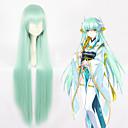 hesapli Anime Cosplay Peruklar-Cosplay Perukları Kader / Büyük Sipariş Kiyohime Yeşil Anime Cosplay Perukları 40 inç Isı Dirençli Fiber Hepsi Cadılar Bayramı Peruk