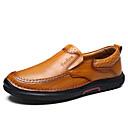 זול נעלי בד ומוקסינים לגברים-בגדי ריקוד גברים מוקסין עור נאפה Leather אביב / סתיו נוחות נעליים ללא שרוכים שחור / צהוב / חום