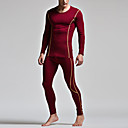 cheap Cycling Jackets-Men's U Neck Suits Pajamas Solid Colored