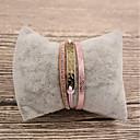 tanie Modne bransoletki-Damskie Bransoletki ze skóry - Skóra Moda Bransoletki Różowy Na Prezent Codzienny