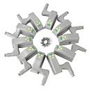 abordables Mantas-ywxlight® empaqueta el sensor de led con bisagra interior debajo de las luces del gabinete para el dormitorio de la cocina, el armario, la luz nocturna, funciona con pilas