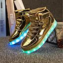 tanie Obuwie dziewczęce-Dla chłopców / Dla dziewczynek Obuwie PU Lato Świecące buty Adidasy LED na Biały / Czarny / Srebro