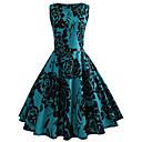 baratos Adesivos de Parede-Mulheres Vintage Algodão Delgado Calças - Floral Azul, Estampado Verde / Para Noite