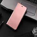 olcso Mobiltelefon tokok & Képernyő védők-Case Kompatibilitás Huawei P9 Lite P9 Galvanizálás Tükör Flip Automatikus alvó állapot/felébredés Héjtok Tömör szín Kemény PC mert Huawei