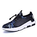 זול סניקרס לגברים-בגדי ריקוד גברים אור סוליות PU אביב / סתיו נעלי אתלטיקה הליכה שחור לבן / שחור אדום / שחור / כחול