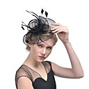 Χαμηλού Κόστους Αξεσουάρ κεφαλής για πάρτι-Λινάρι / Φτερά Γοητευτικά / Καπέλα / Τεμάχια Κεφαλής με Φτερό 1pc Γάμου / Ειδική Περίσταση Headpiece