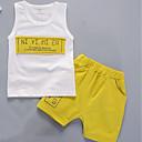 tanie Zestawy ubrań dla chłopców-Brzdąc Dla chłopców Nadruk Nadruk Bez rękawów Komplet odzieży / Urocza