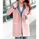 olcso Női csizmák-Alkalmi Stílusos V-alakú Női Kabát - Tömör szín, Régies stílus