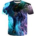 billige Anime-hættetrøjer og -sweatshirts-Rund hals Herre - Farveblok Basale T-shirt / Kortærmet