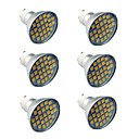 cheap LED Candle Lights-6pcs 4.5W 300lm GU10 LED Spotlight 27 LED Beads SMD 5050 Warm White Cold White 220-240V