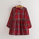 tanie Zestawy ubrań dla dziewczynek-Brzdąc Dla dziewczynek Zabytkowe Pled Długi rękaw Sukienka